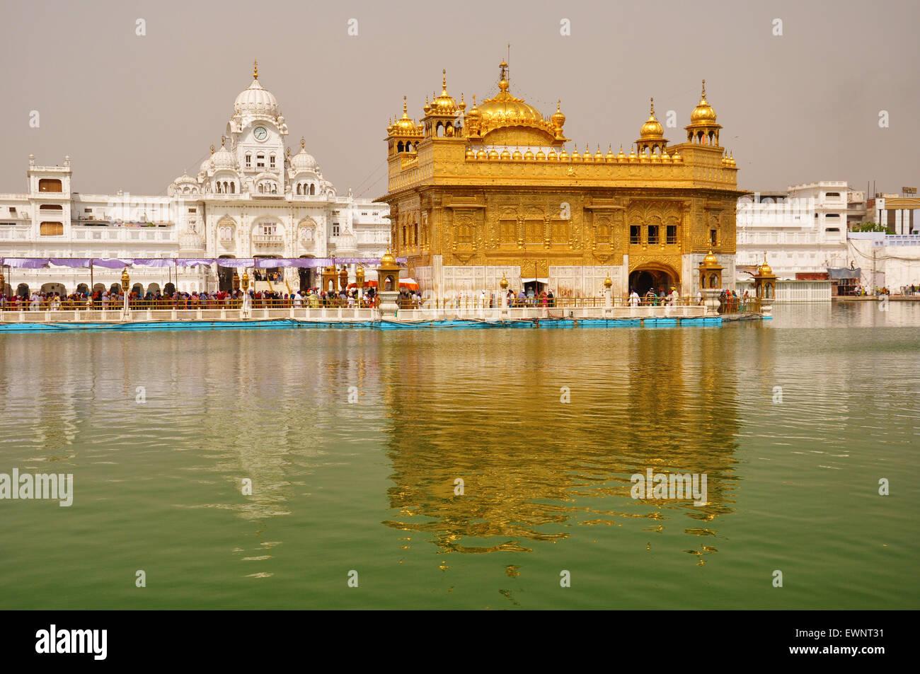 Tempio d'oro, Amritsar e Pujab, India Immagini Stock
