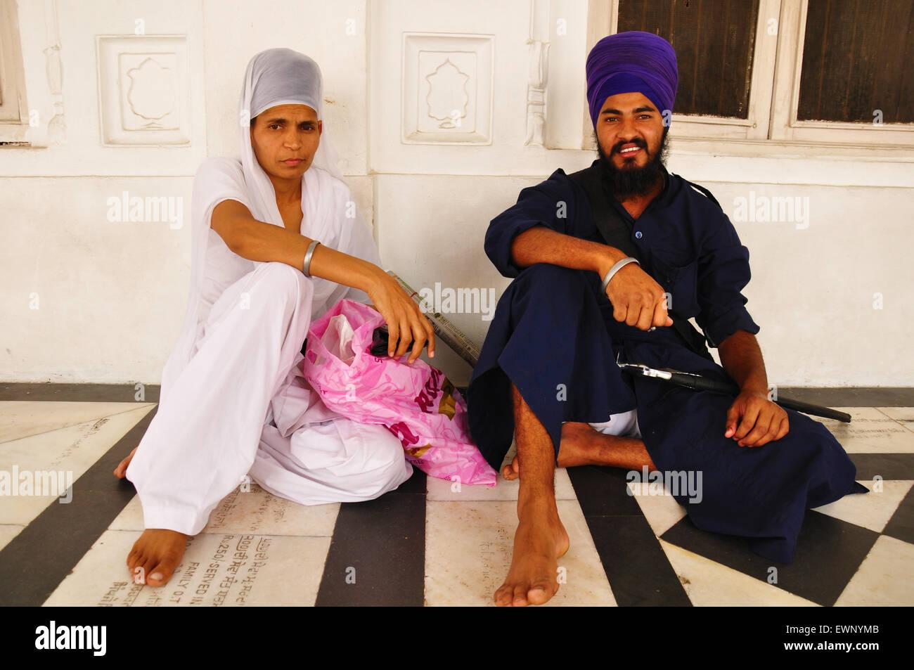 La religione sikh giovane, Tempio d'Oro Immagini Stock