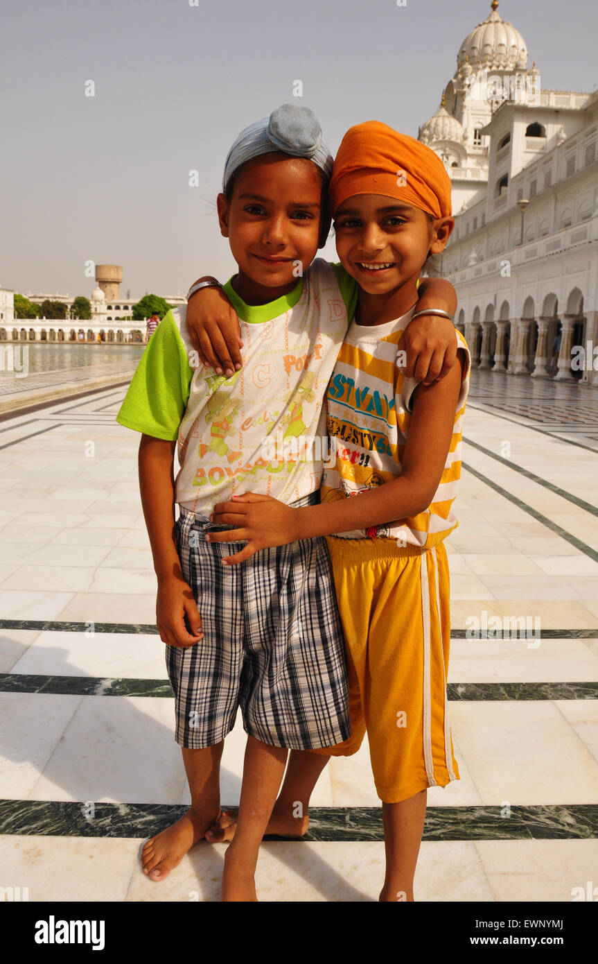 Due ragazzi sikh Immagini Stock