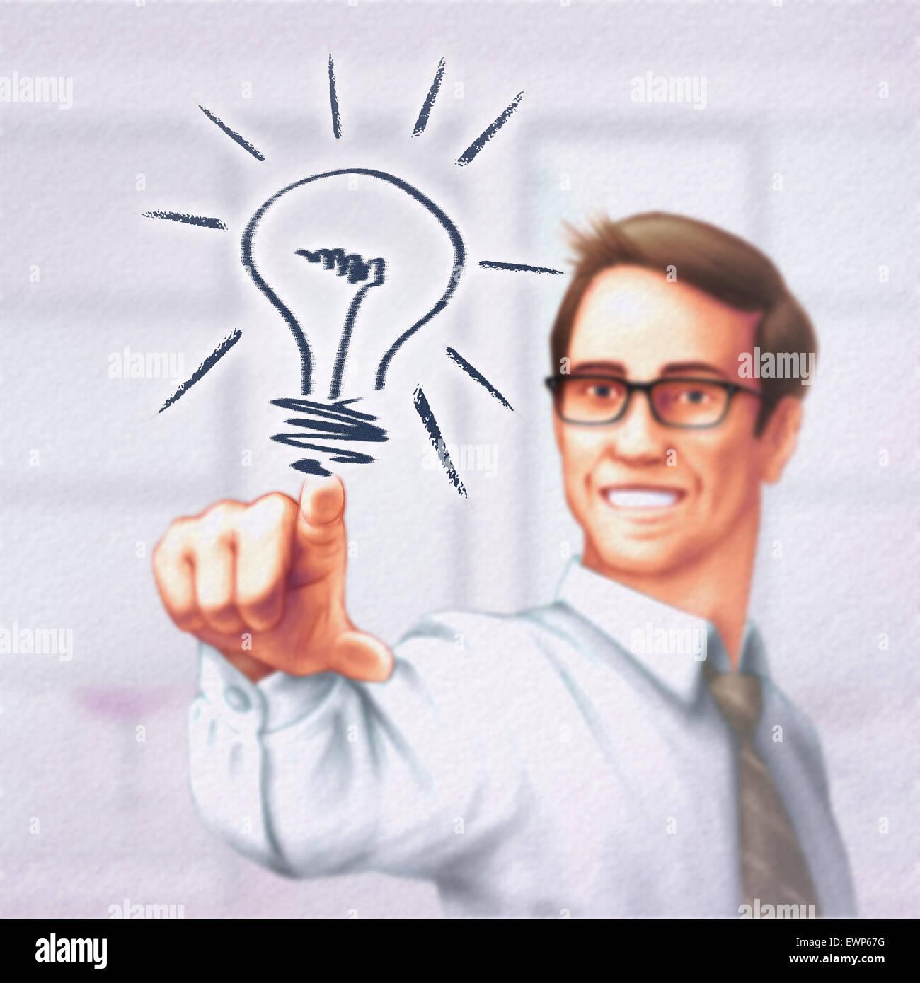 Imprenditore strategia di impostazione per obiettivi futuri Immagini Stock