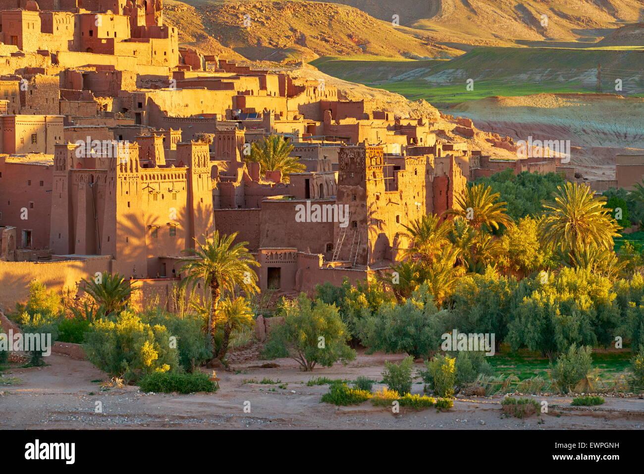 Ait Benhaddou fortezza vicino a Ouarzazate, Marocco Immagini Stock