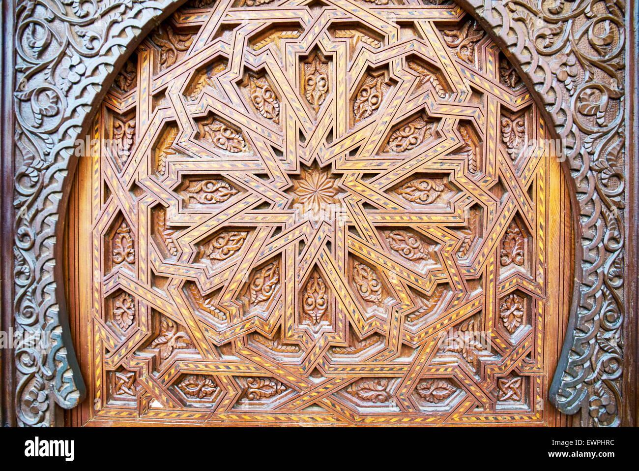 Dettaglio del porta decorativa, Marocco, Africa Immagini Stock