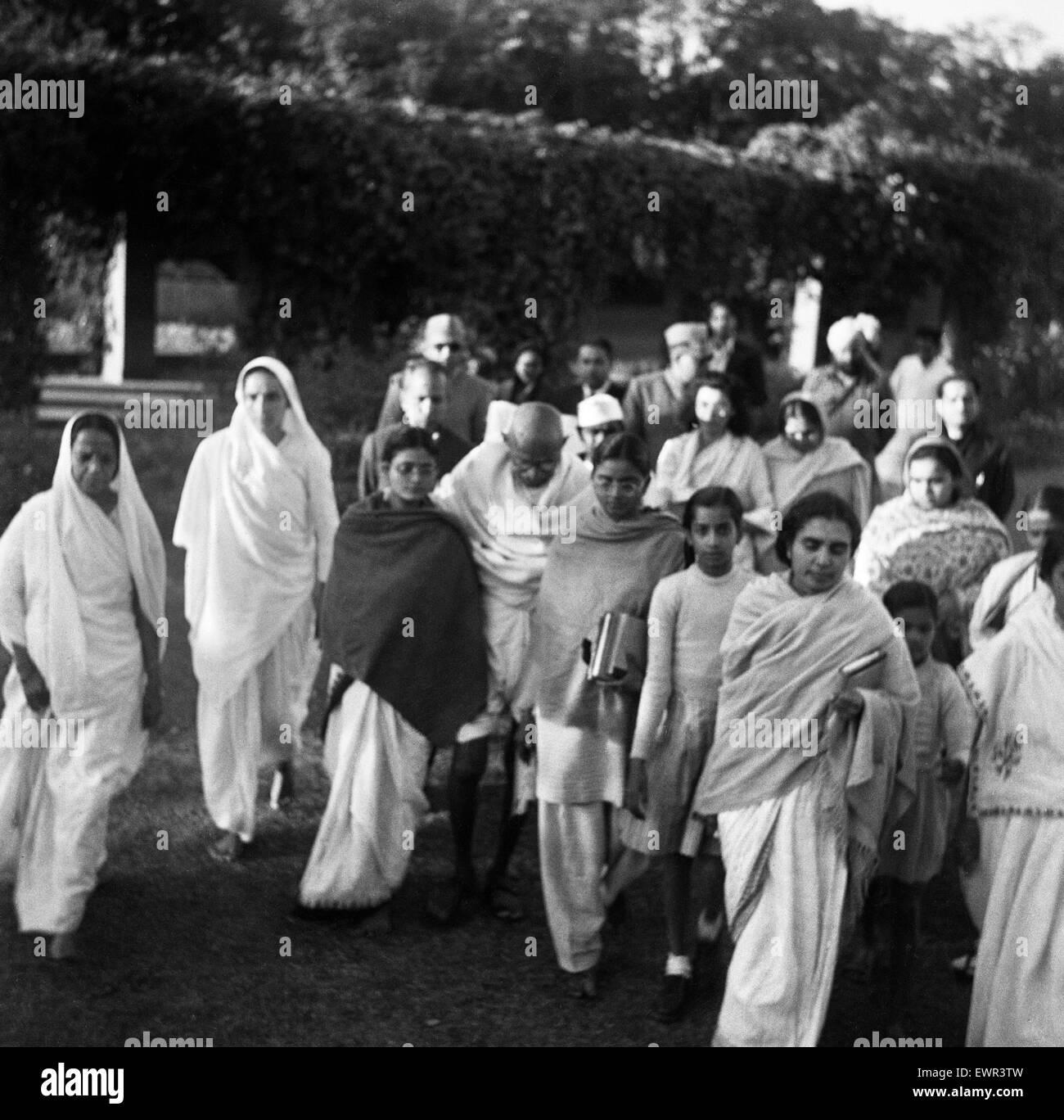 Mohandas 'Mahatma' Gandhi, leader dell'Indiano movimento di indipendenza in British esclusa l'India, Immagini Stock