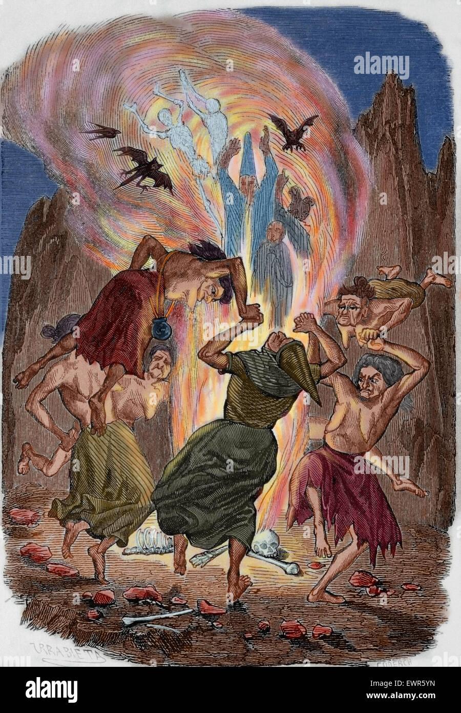 Wenceslao Ayguals de Izco (1801-1875). Lo scrittore spagnolo. Ricchi e poveri o la strega di Madrid. 1849. Illustrazione Immagini Stock