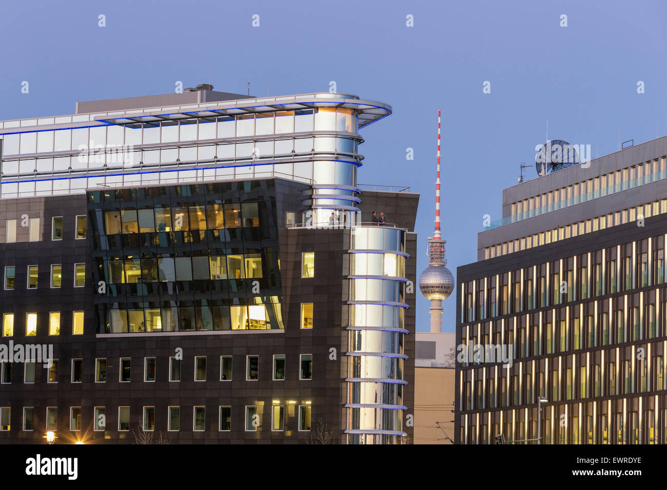 Architettura moderna, Alex TV Tower, Berlin , Germania Immagini Stock
