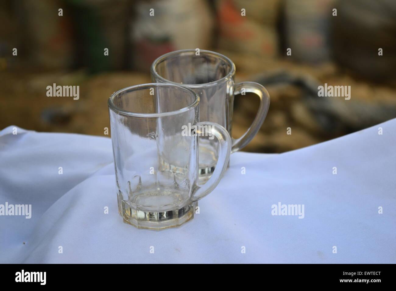 Il cerimoniale tè bicchieri in vetro termoresistente Immagini Stock