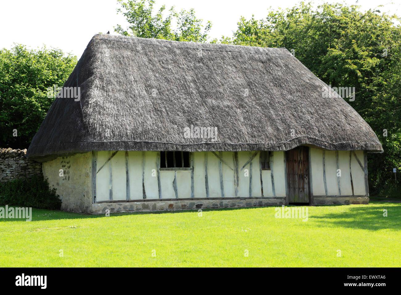 Crofter's Cottage, Ryedale Folk Museum, Hutton-le-foro, Yorkshire, Hutton Le Hole Immagini Stock