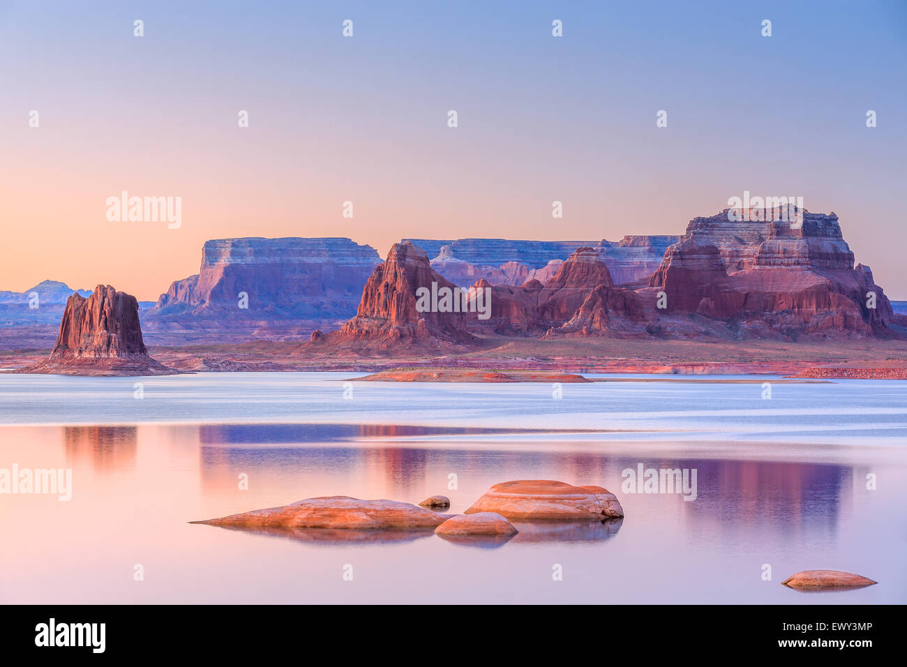 Padre Bay, dal Cookie Jar Butte. Il Lake Powell, Utah, Stati Uniti d'America Immagini Stock