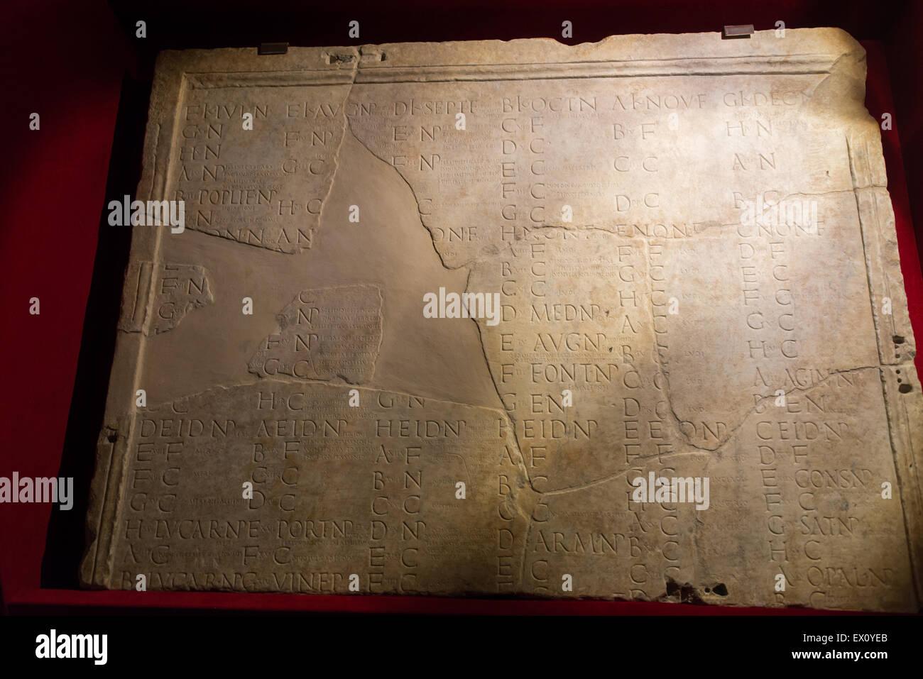Calendario Antico.Museo Nazionale Romano Antico Calendario Foto Immagine