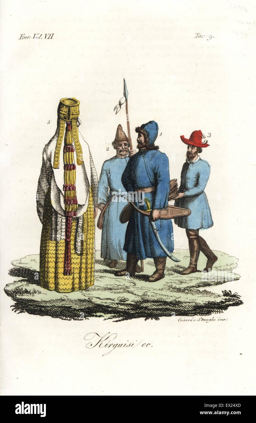 I costumi degli uomini del Kirghizistan con la loro peculiare cappelli 11e6ddb39ca7