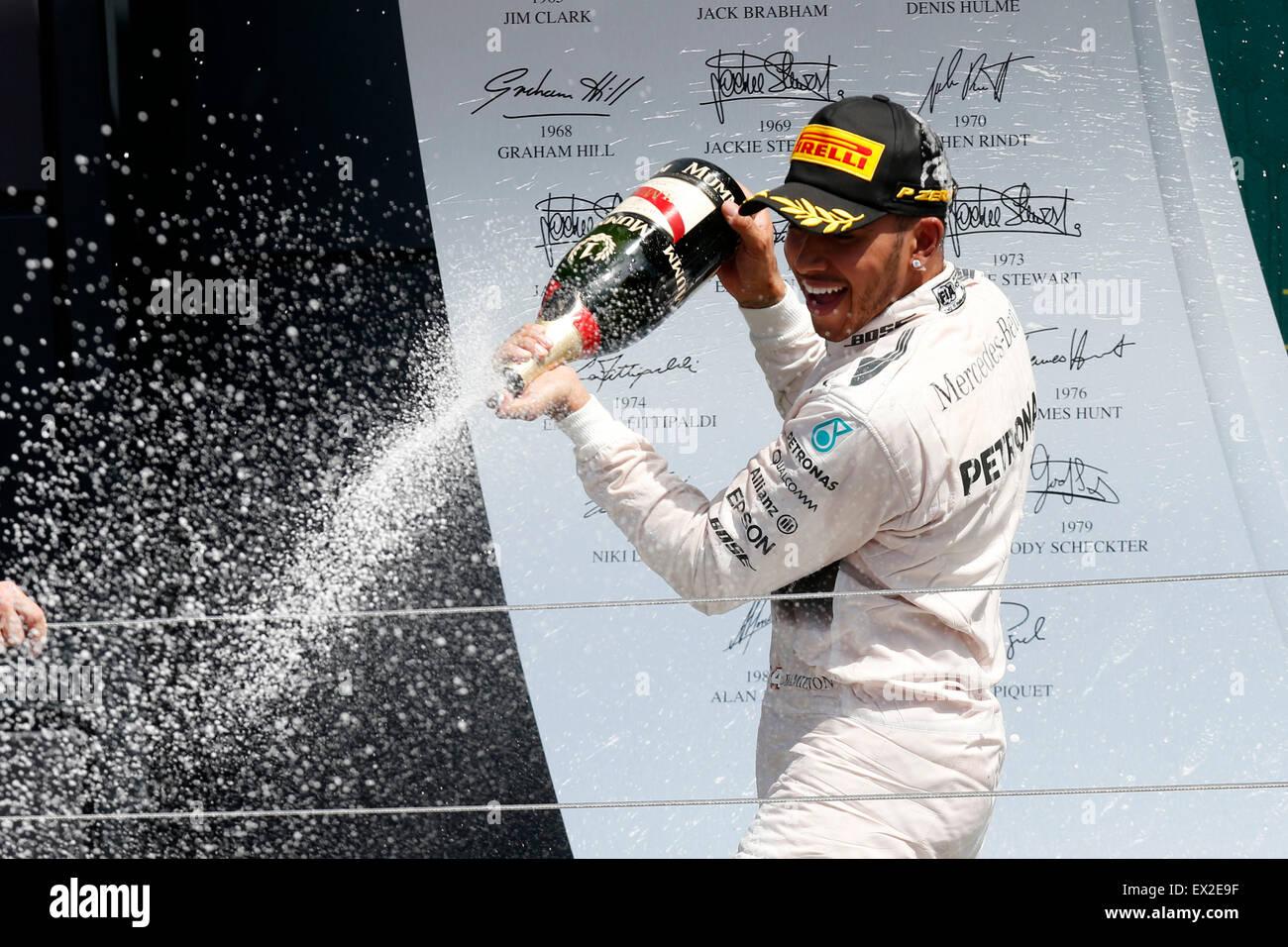 Silverstone, UK. 5 Luglio, 2015. Motorsports: FIA Formula One World Championship 2015, il Gran Premio di Gran Bretagna, Immagini Stock
