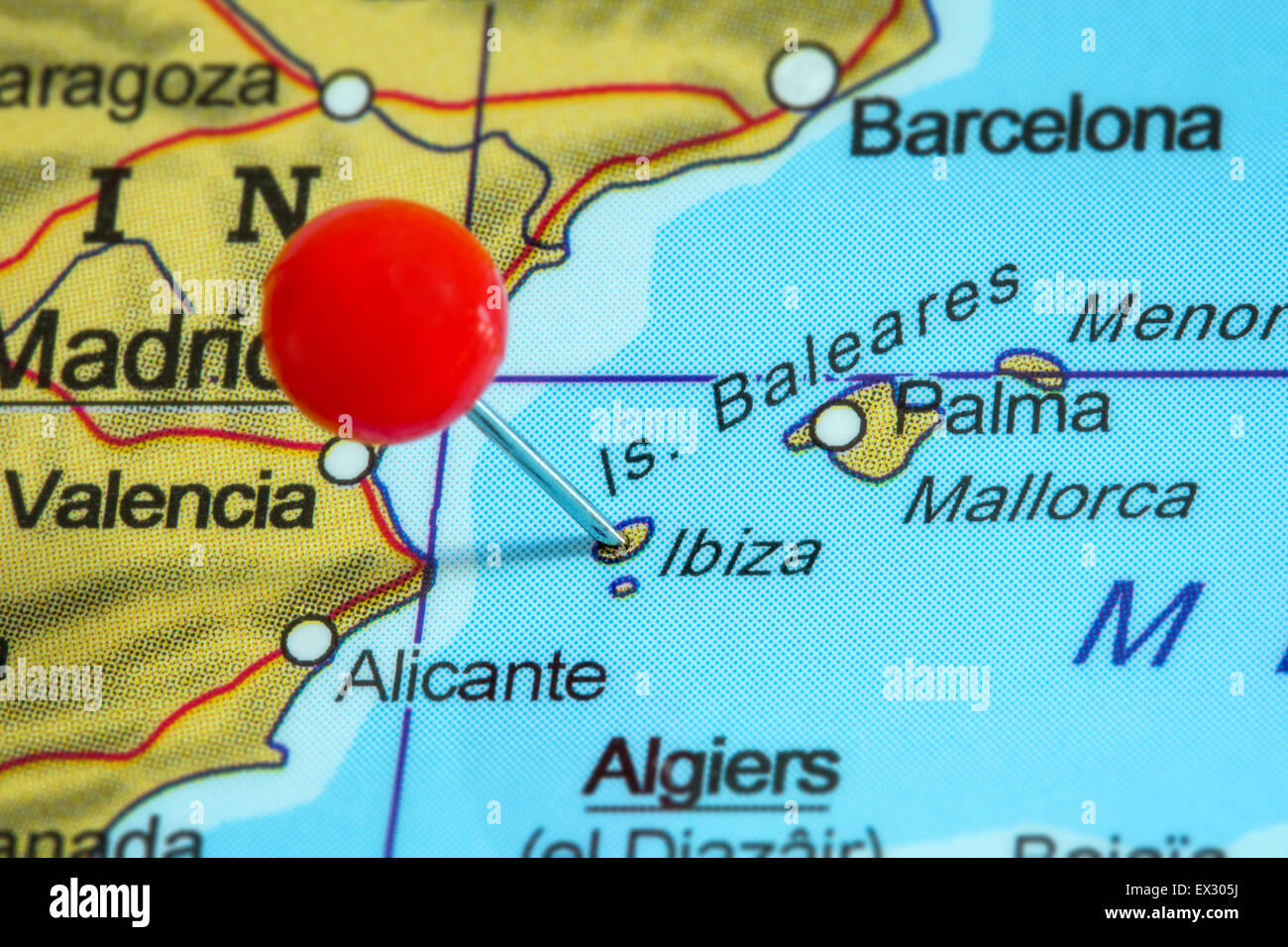 Ibiza Cartina Spagna.Ibiza Map Immagini E Fotos Stock Alamy