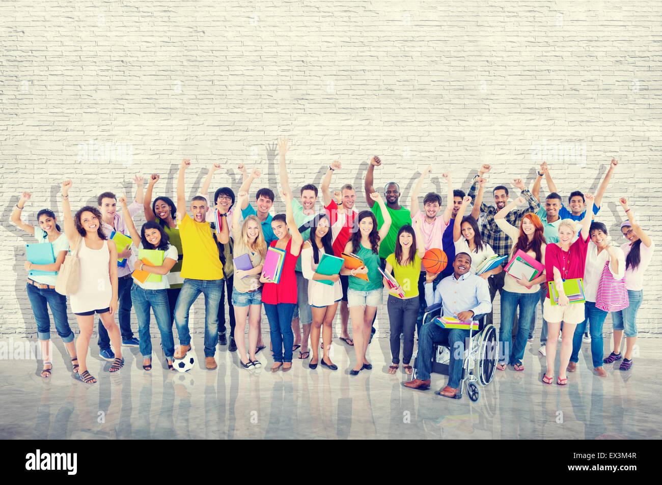 La diversità della comunità gruppo allegro felicità il concetto del Team Immagini Stock