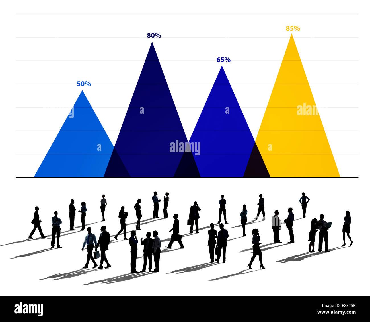 Attività di analisi di dati di Marketing Strategico di concetto grafico Immagini Stock