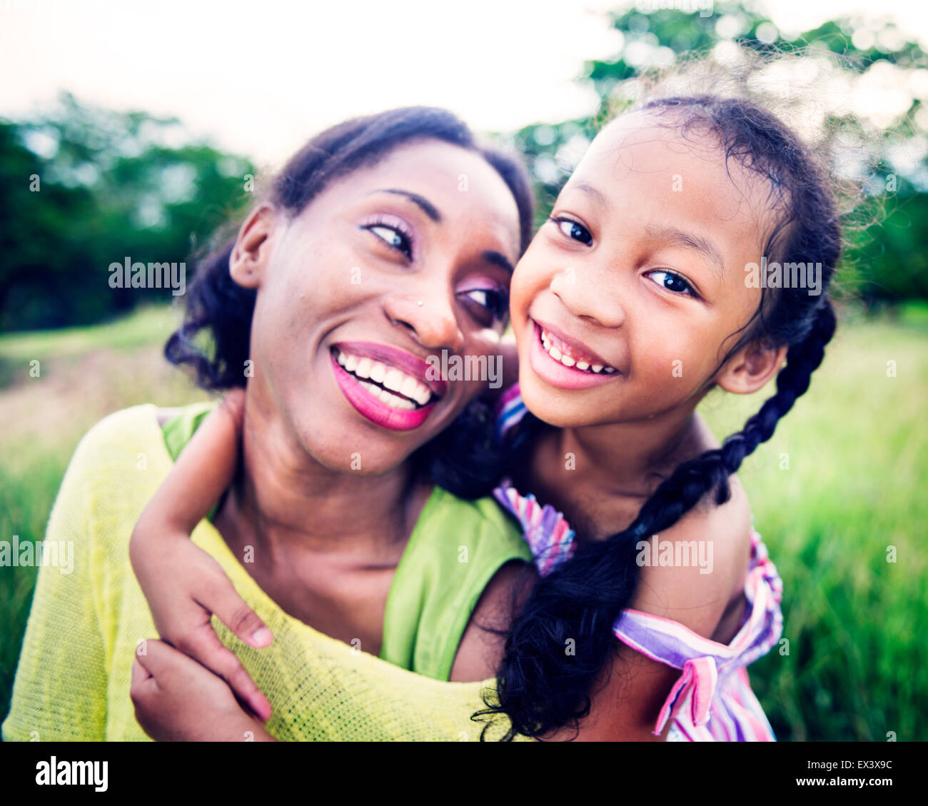 Famiglia africana felicità Vacanze la nozione di attività Immagini Stock