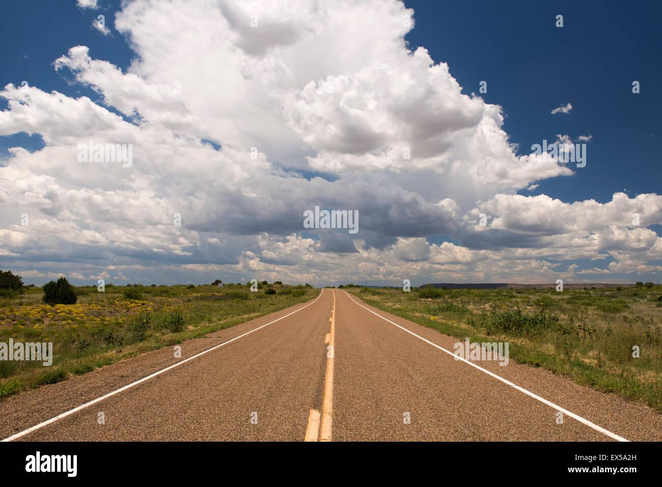 Route 102 nel Nuovo Messico Immagini Stock