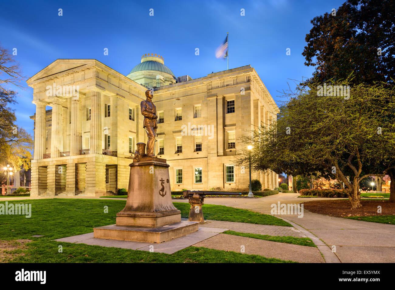 Raleigh, North Carolina, Stati Uniti d'America lo State Capitol. Immagini Stock