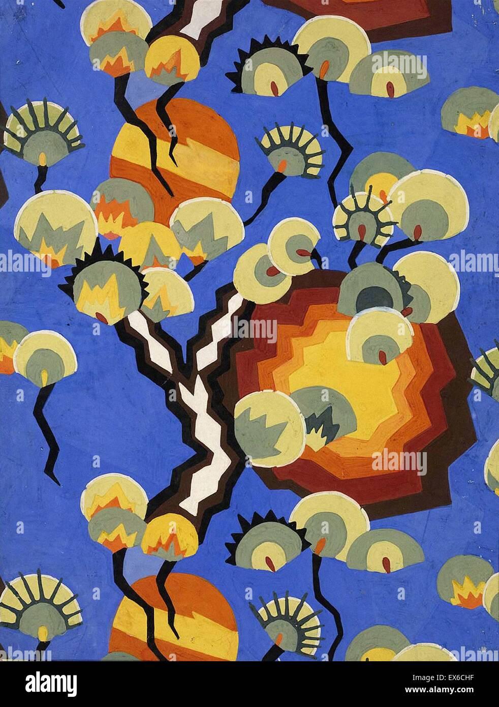 Loïs Mailou Jones il design tessile per il cretonne Immagini Stock