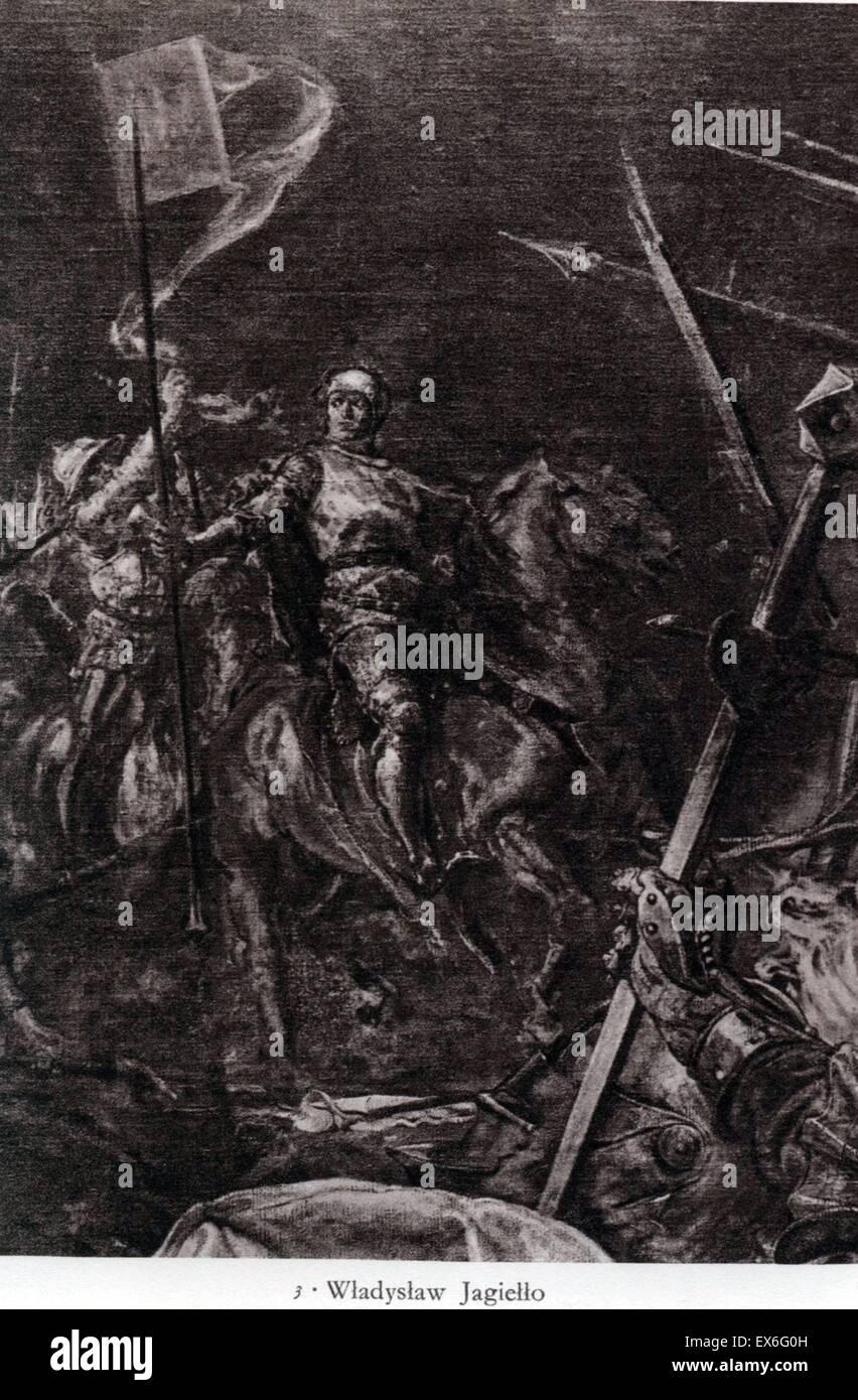 Re Jagiello , Yohayla (Jogaila) (1350 - 1434), il re polacco Immagini Stock