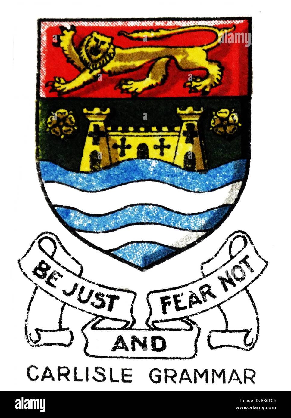 Trinità scuola ha una lunga storia: in 685 vi era una scuola a Carlisle per i cristiani fondata da St Cuthbert Foto Stock