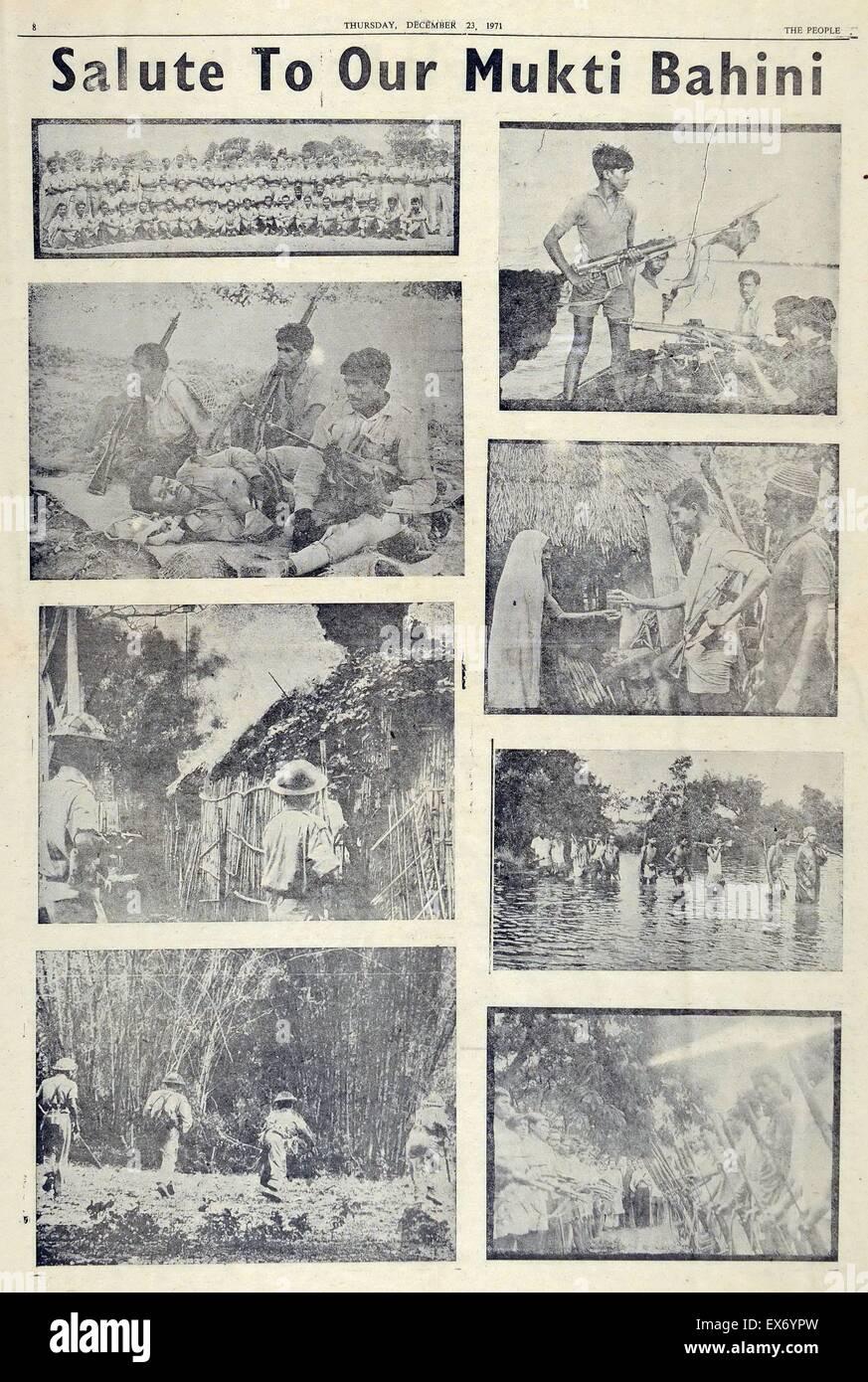 Il mufti Bahinii Bangladesh combattenti della resistenza, compreso regolare di soldati e civili durante la Guerra Immagini Stock
