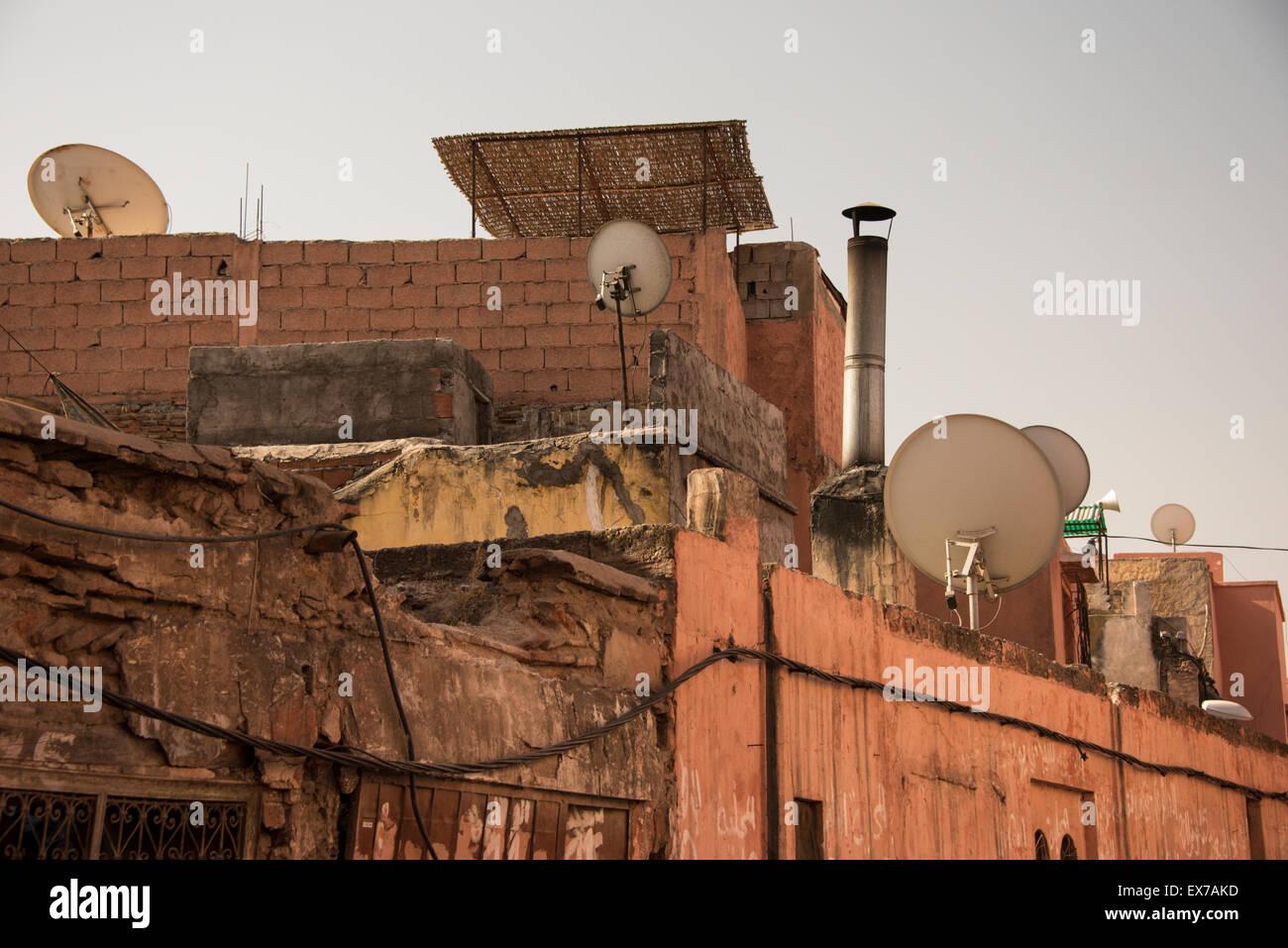 La tecnologia in Marocco - Marrakech Immagini Stock