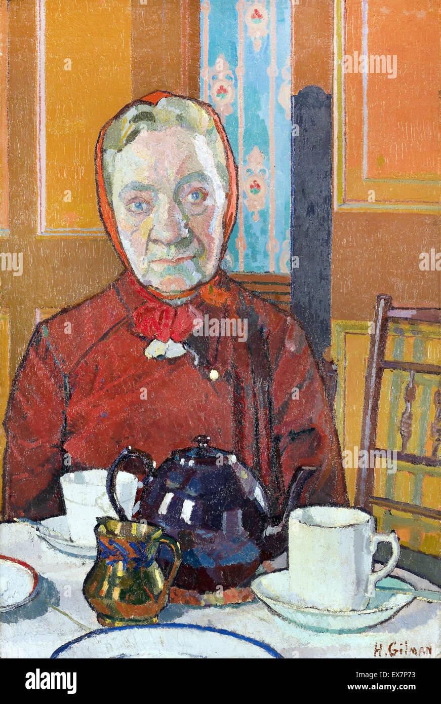 Harold Gilman, Onorevole Mounter 1916 olio su tela. La Walker Art Gallery di Liverpool, in Inghilterra. Immagini Stock