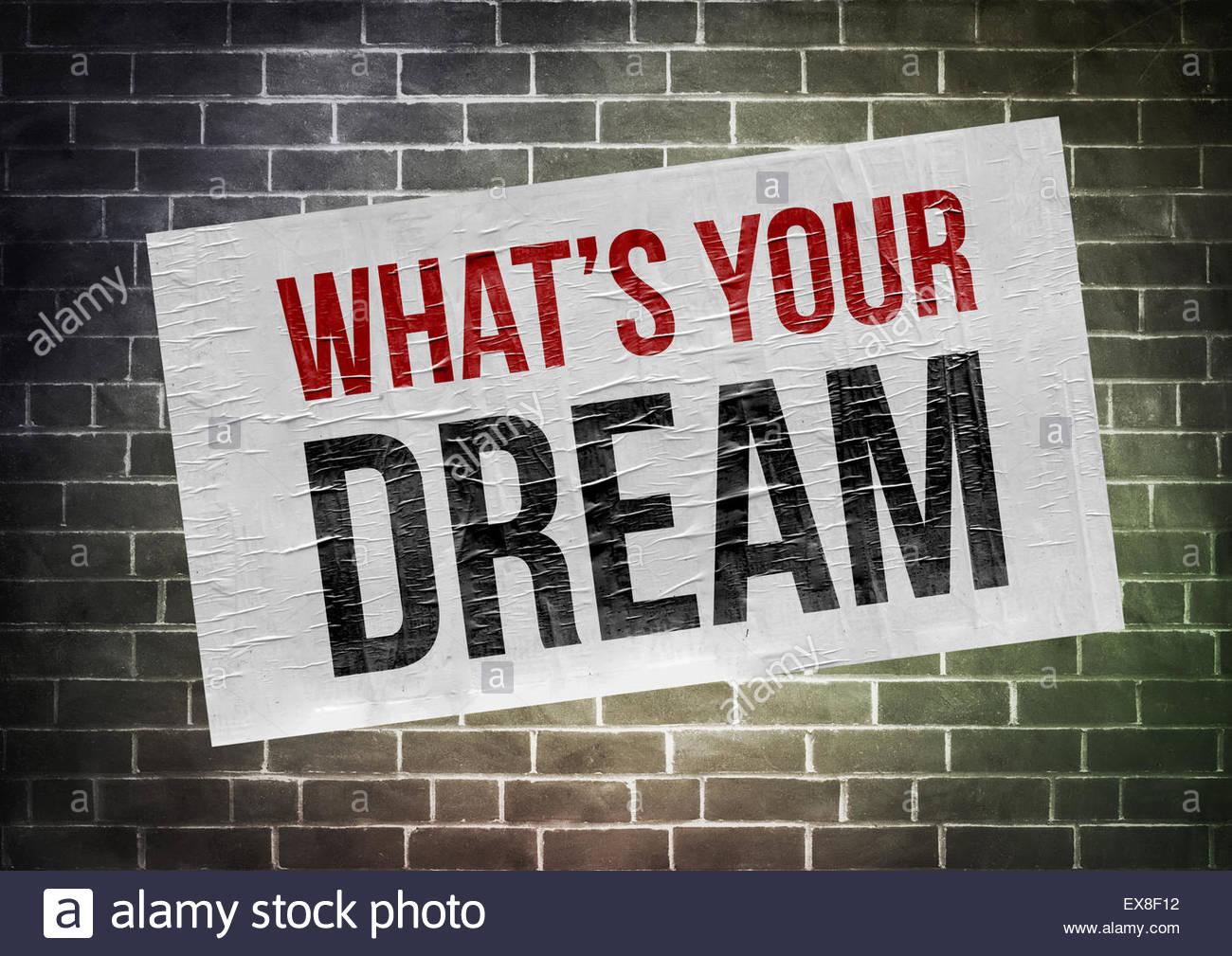 Qual è il tuo sogno Immagini Stock