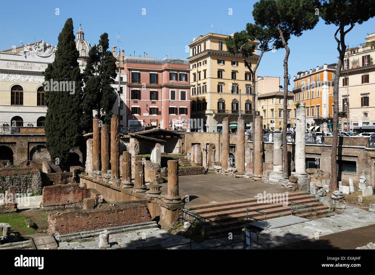 Rovine romane nel sacro (Area Sacra di Largo Argentina, Roma, Lazio, l'Italia, Europa Immagini Stock