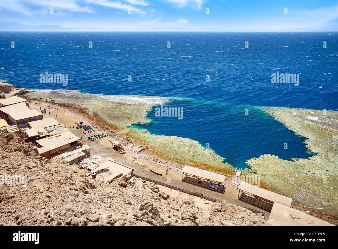 Blue Hole, Dahab, Sinai, Mar Rosso, Egitto Immagini Stock