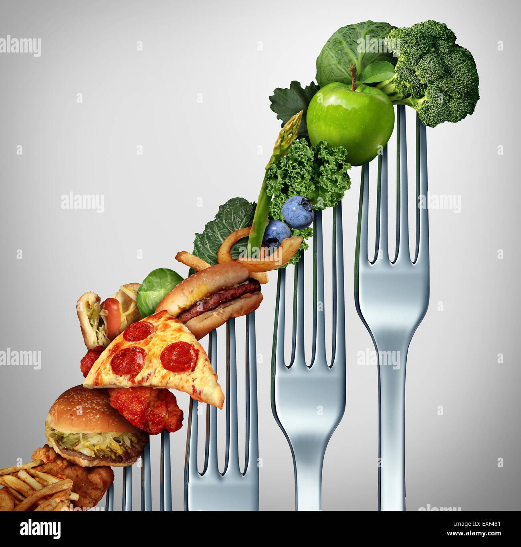 La dieta di progresso cambia come uno stile di vita sano concetto di miglioramento e di evoluzione per accettare Immagini Stock