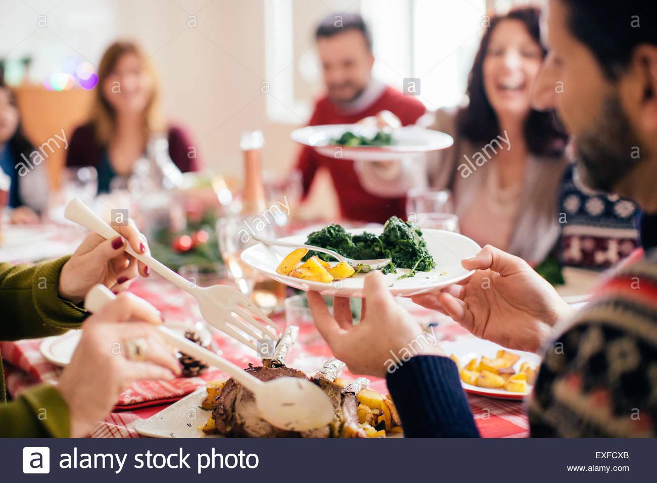 Famiglia festa di Natale Immagini Stock