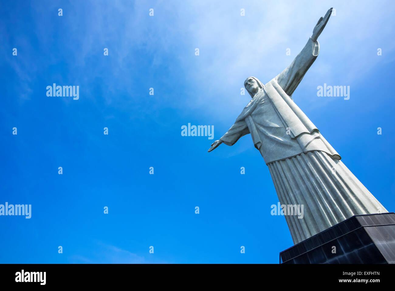 Cristo Redentore statua a Rio de Janeiro in Brasile. Immagini Stock
