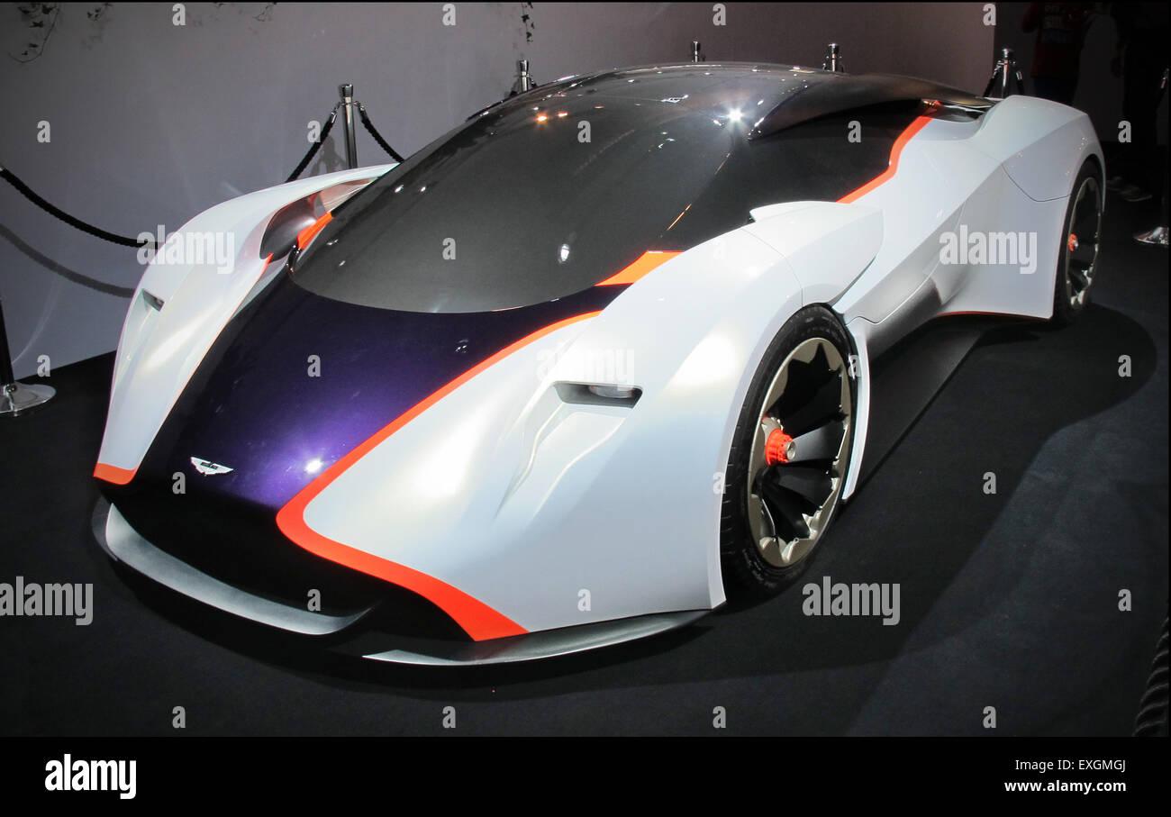 Aston Martin prototipo di design 100 DP-100 concetto virtuale per Gran Turismo 6 gioco Immagini Stock
