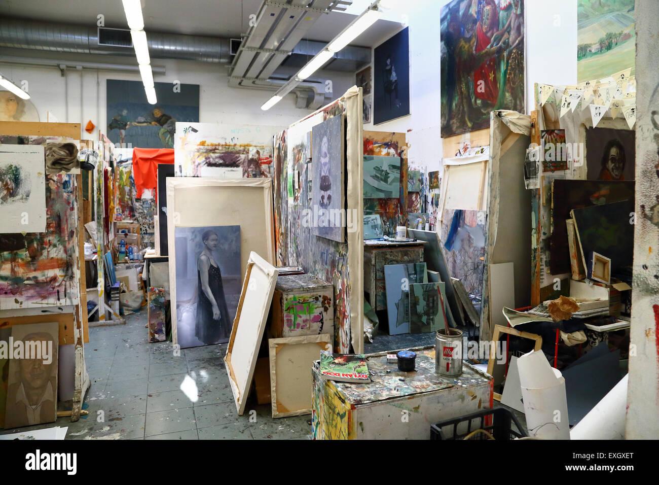Arte notte Venezia, Accademia di Belle Arti di Venezia Immagini Stock