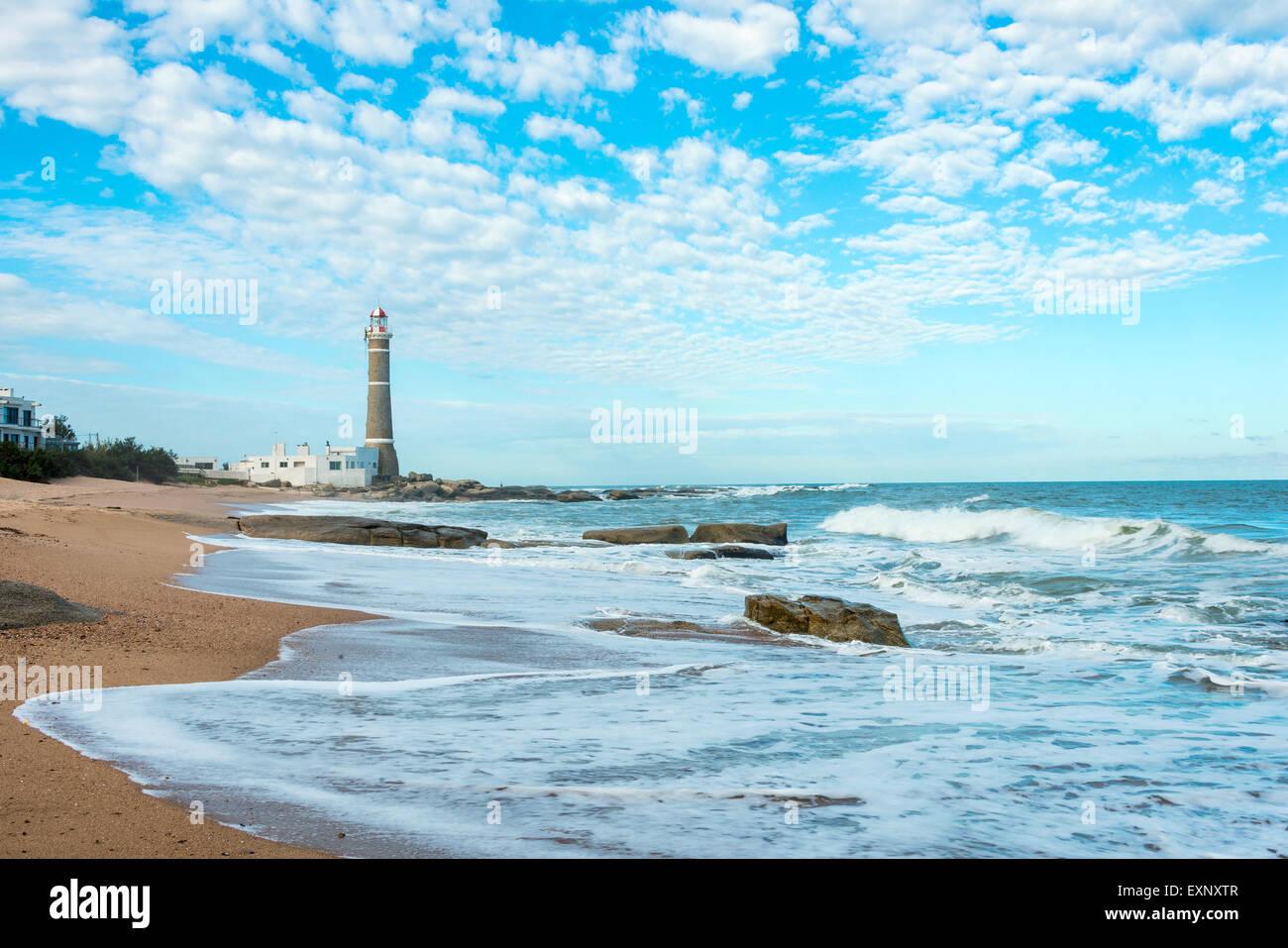 Faro in Jose Ignacio vicino a Punta del Este, Uruguay Immagini Stock