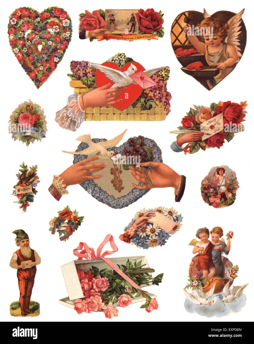 1900S UK scarti Vittoriano Prenota piastra Immagini Stock