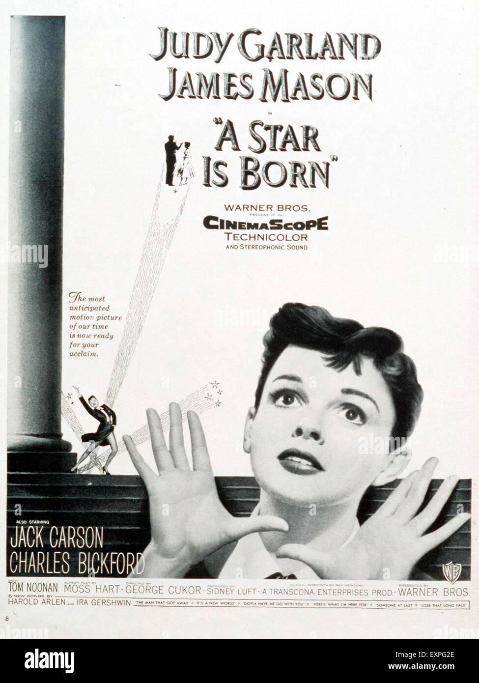 Anni Cinquanta STATI UNITI D'America è nata una stella Film Poster Foto  stock - Alamy