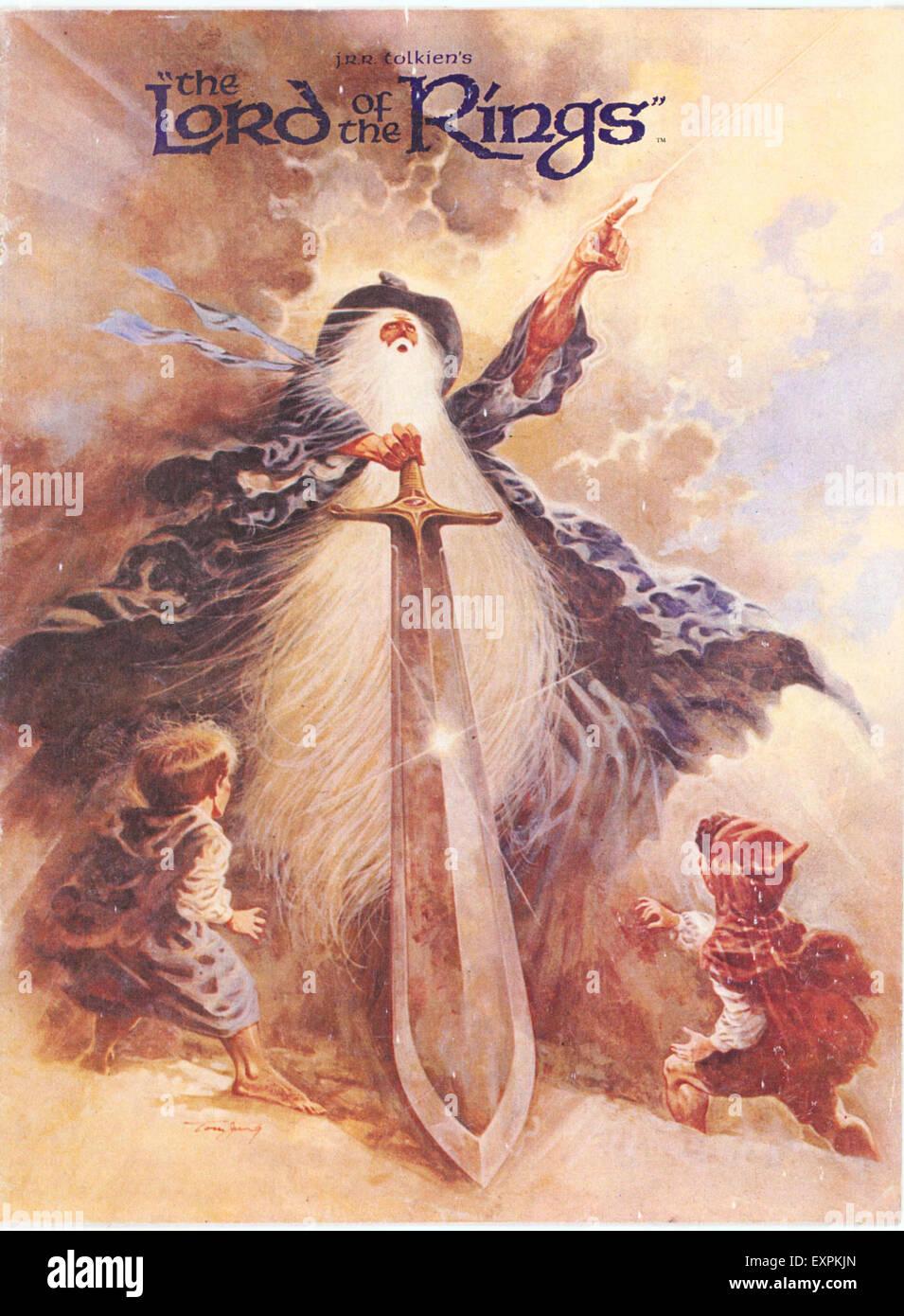 Anni Settanta USA Il Signore degli Anelli Poster Immagini Stock