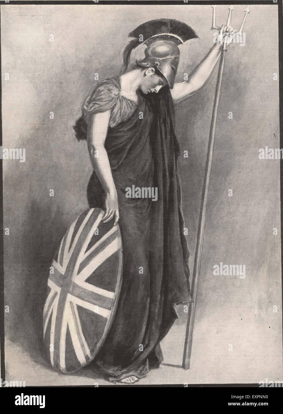 1900S UK Britannia piastra del magazzino Immagini Stock