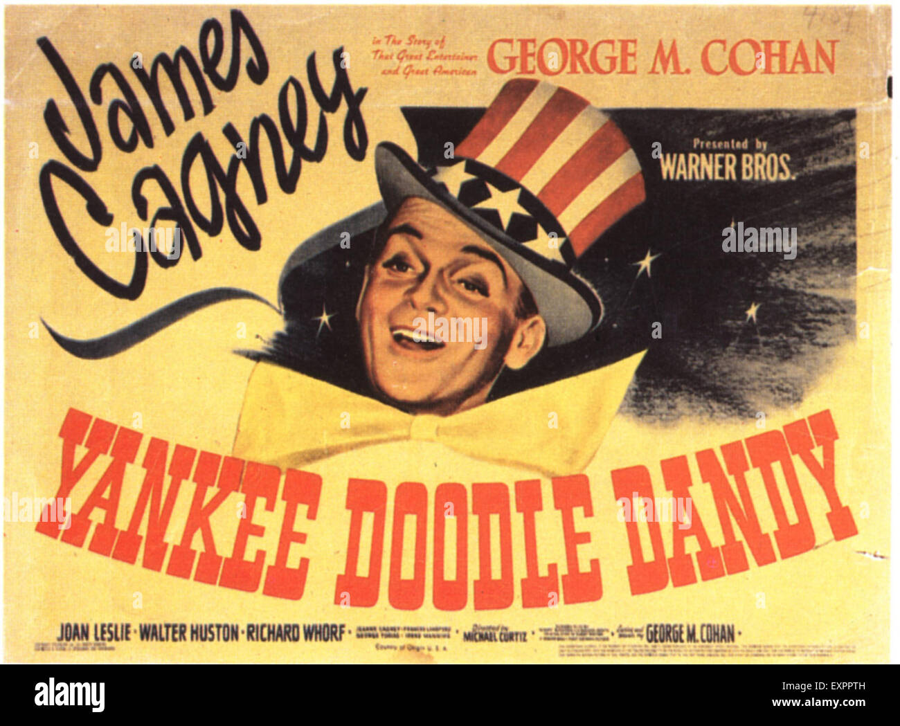 1940s USA Yankee Doodle Dandy Film Poster Immagini Stock