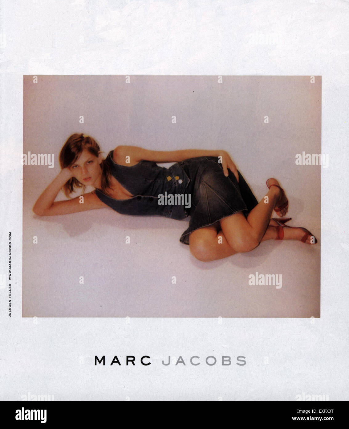 2000S UK Marc Jacobs Magazine annuncio pubblicitario Immagini Stock