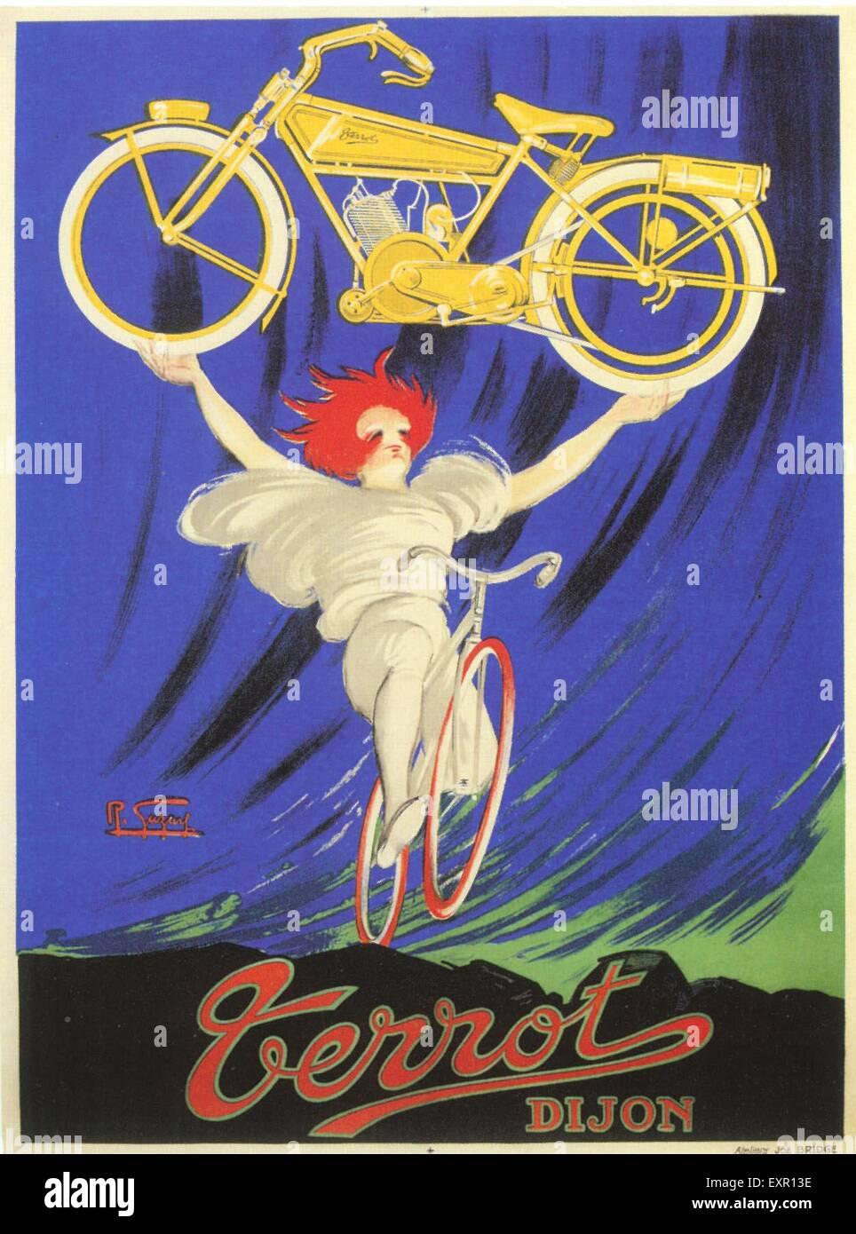 1900s Francia Terrot Poster Immagini Stock