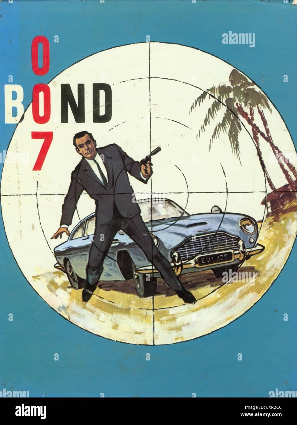 1960S UK James Bond 007 fumetto/ copertura annuale Immagini Stock