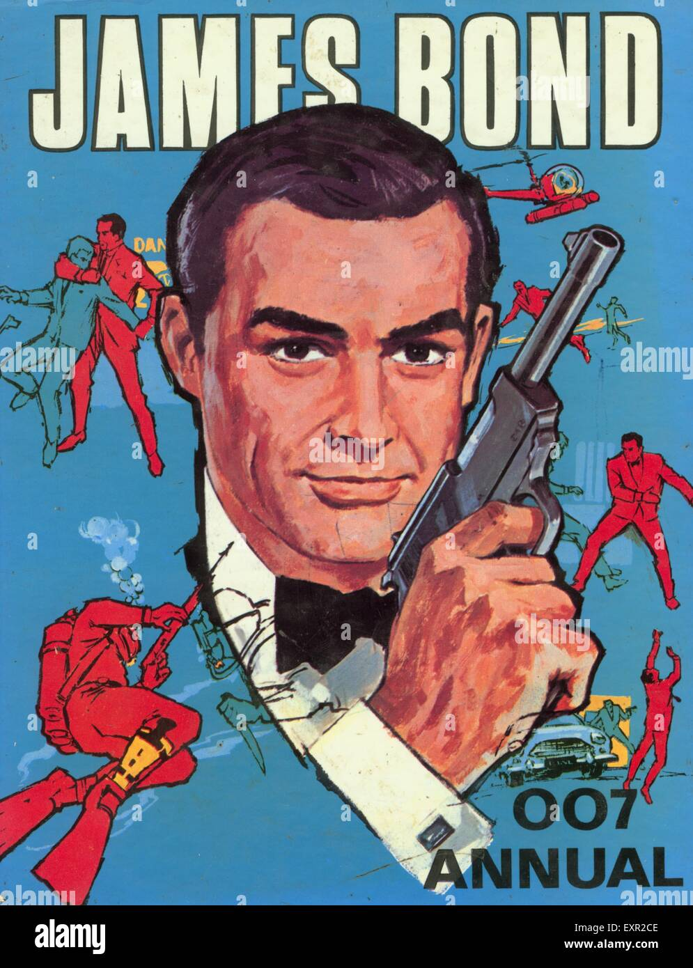 1960S UK James Bond fumetto/ copertura annuale Immagini Stock