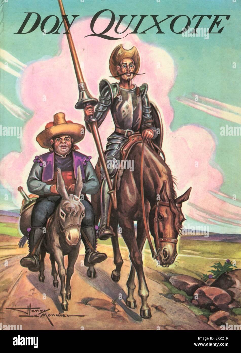 1970S UK Don Chisciotte per la copertina del libro Immagini Stock