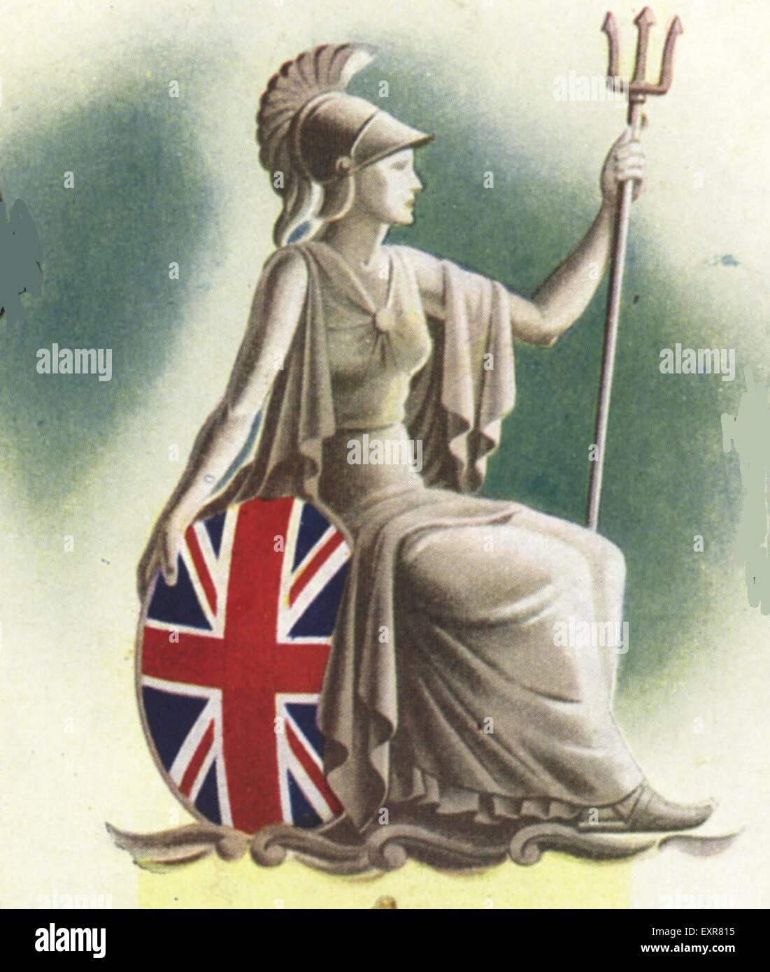 1950S UK Britannia piastra del magazzino Immagini Stock