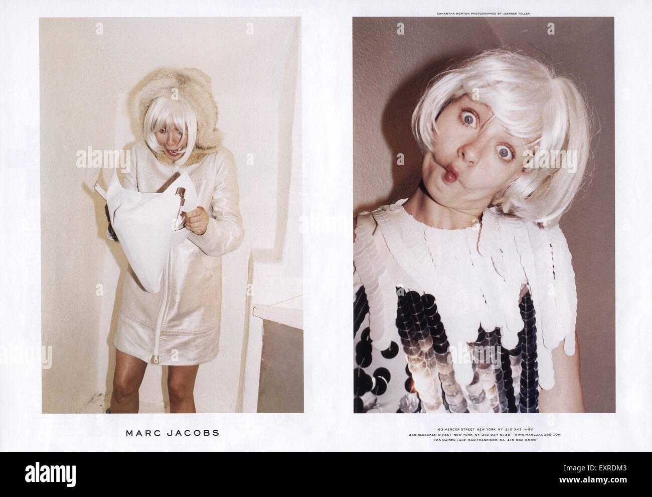 2000s USA Marc Jacobs Magazine annuncio pubblicitario Immagini Stock