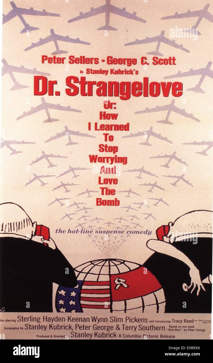 Anni sessanta Stati Uniti Dottor Stranamore poster del film Immagini Stock