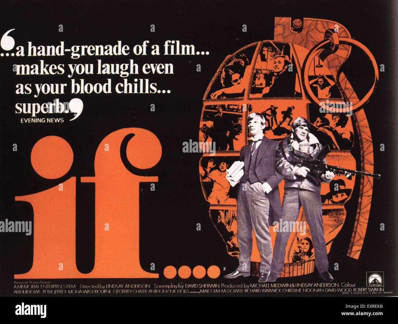 1960S UK se il poster del film Immagini Stock